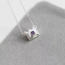 925 Sterling Silver Camera Necklace and Pendant White NPF0004