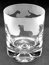 More details for airedale terrier frieze boxed 30cl glass whisky tumbler