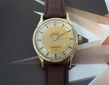 Vintage 1962 Men's Solid 14K Omega Constellation Pie Pan Automatic Wristwatch