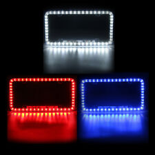 Universal Acrylic License Number Plate Frame With 54 LED Tail Brake Light Blue