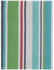 "100% Cotton Green Red & Blue Striped 20""x28"" Dish Towel, Set of 3 - Sailfish"