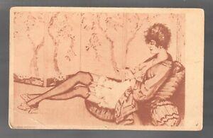 Artist postcard Max Bruning Manicur Young lady Vintage postcard /299