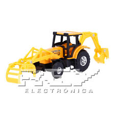 Retroexcavadora Pinzas Articulada Naranja Vehículo Campo Colección  j238