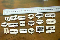 18 Mixed WOODEN Words in Bubbles - Ready 2 Color Your Choice