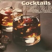 Cocktails Wall Calendar free shipping. 12 x 24