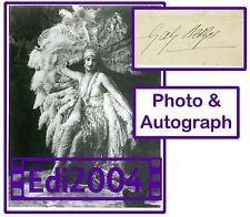 GABY DESLYS original Photo & VERY Rare AUTOGRAPH CARD Early Singer & Dancer