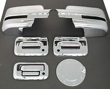 09-14 FORD F150 2DR CHROME DOOR+MIRROR+TAILGATE+FUEL GAS DOOR COVER+NO KEYPAD+KH