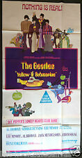 1968 THE BEATLES 'YELLOW SUBMARINE' original Australian 3-sheet film poster EX!