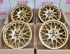 BBS RX-R GOLD 4 Felgen 8,5 x 19 ET45 RX300 für VW Golf 6 + 7 + GTI + R