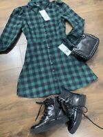 Zara Corduroy Winter Short Shirt Dress Size:Small 6/8