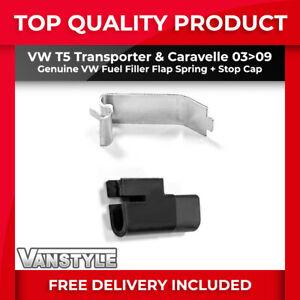 VW T5 TRANSPORTER 03>09 GENUINE VW FUEL FILLER FLAP SPRING + SECURITY STOP CAP