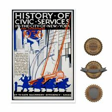 """13""""×19"""" Historic Poster, Reproduction: 1936 New York Fire Department Flyer"""