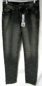 Social Collision Rude Men 28x32 Button Fly Salton Wash Skinny Jeans J1 44