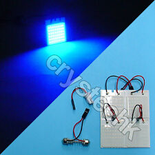 4 X Universal Dome Panel light COB 48 LED SMD Blue V12 T10 Festoon Bright Lamp