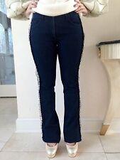 UNGARO Women's Jeans Tulle Ruffle Trim On A Side Size USA 27 It 41 Fr 27 De 36