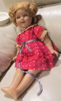"""18"""" 30's Vintage Composition All Original Ideal Shirley Temple Fixer Upper Doll"""