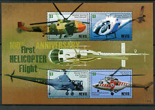 Nevis 2007 MNH Helicopter 1st Flight 100th Anniv 4v M/S Sikorsky Swidnik Stamps