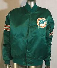 Vintage Starter Pro Line Miami Dolphins NFL Satin Jacket Coat Size Medium M