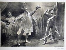 """c71-77 Gravure contes & récits d'Alsace """"histoire d'une porte ouverte"""""""