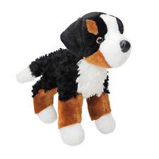 "Miranda Douglas 7"" long plush Bernese Mountain Dog stuffed animal cuddle toy"