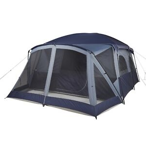 Ozark Trail 12-Person Cabin Tent, with Screen Porch and 2 Entrances