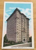 Cairo Hotel WASHINGTON DC early vintage unused divided postcard