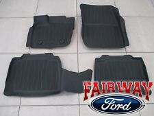17 thru 18 Fusion OEM Genuine Ford Tray Style Molded Black Floor Mat Set 4-piece