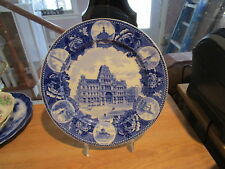 Wedgwood Historical Blue Collector Plate-The Railway Post Office Clerks 1st Div