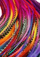 "hair feathers bulk wholesale rainbow tye dye 55 x 5-11"" cheapest on ebay"