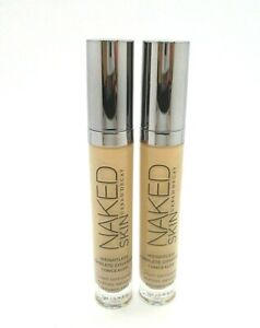 Lot/2 Urban Decay Naked Skin Weightless Complete Concealer ~ Medium Light Warm ~