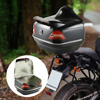 HOMCOM 26L Motorcycle Tail box Top Case Tour Motorbike Storage Trunk Carrier