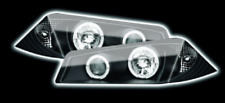 Black LED Halo Anello Projector Headlights For Renault Megane 2002-2006