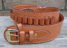 NEW! Deluxe Western TAN Genuine Leather 44/45 cal Cartridge Belt SASS Gun  tern