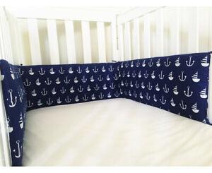Gooseberry Baby Cot Crib Bumper Cotton Nautical  210 x 30 cm