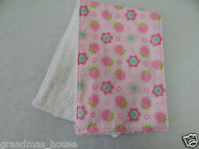 Strawberry Shortcake Burp Cloth - 1 Only Towelling Back GREAT GIFT IDEA!!
