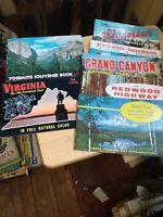 Lot of 9 Vintage Travel Brochure guides Yosemite Grand canyon Black hills & more