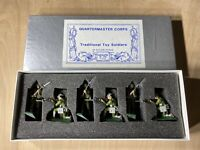 Quartermaster Corps Lead Toy Soldiers In Action Poses 6 Pcs Handpainted Pre-Ownd