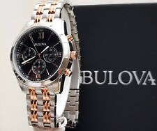 BULOVA Mens Watch Chronograph RRP£280 Stainless steel IDEAL GIFT BOXED Brand New