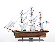 Cutty Sark China Clipper Tall Ship 34' Built Wooden Model Boat Assembled