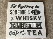 Retro Whisky Shot Wooden Wall Hanging Sign Plaque Fun Pub Lounge Tea Room Home