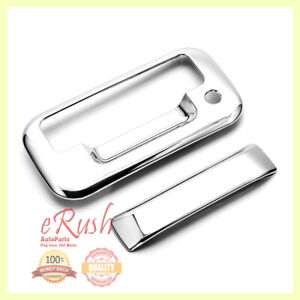 FOR 2004-2014 FORD F150 F-150 CHROME TAILGATE DOOR HANDLE COVER NO CAM HOLE 2012