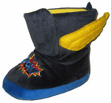 OshKosh Super Hero Slippers sz S 5/6 toddler blue plush winged boots comics