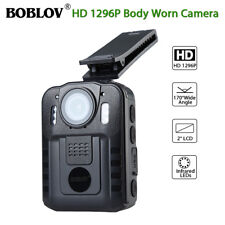 1296P Security Body Worn Camera Police Pocket Video Recorder Night Vision 8 LEDs