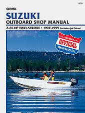 Clymer Manuals Suzuki 2-65 HP Two-Stroke (Includes Jet Drives), 1992-1999 B778