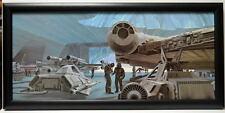 Star Wars ESB REBEL PILOTS & MILLENIUM FALCON FRAMED CONCEPT PRINT Chiang 1980