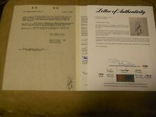BABE RUTH SIGNED FORD MOTOR LETTER/CONTRACT WITH PSA/DNA JSA LOA AUTO NY YANKEES