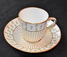 Atq 1899 MINTON England Globe w Crown Pink ROSES #G6662 Demitasse Cup & Saucer