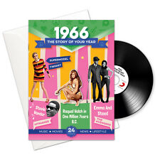 51st 1966 Birthday Anniversary Gift Greetings Card Music CD Book Cards and Gifts
