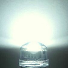 200 PCs 1W 8mm 140° StrawHat White LED 240,000mcd@300mA