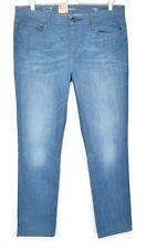 NEW Ladies Levis SLIM Leg Demi Curve Blue Mid Rise Jeans Size 16 W34 L32